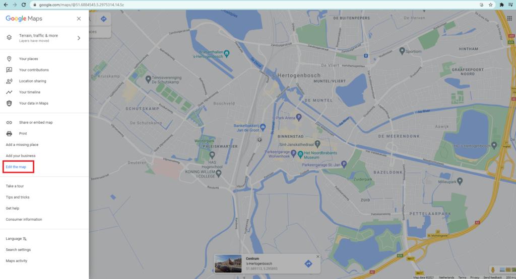 Maps Edit Update