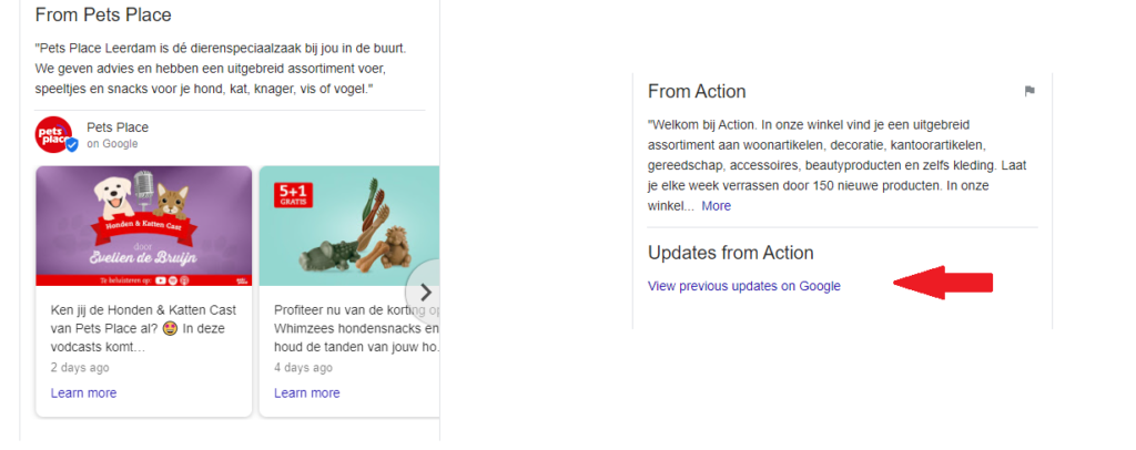 Google Post Updates